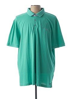 Polo manches courtes vert PIERRE CARDIN pour homme