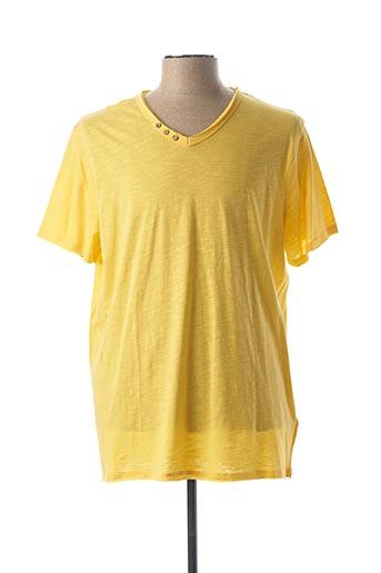 T-shirt manches courtes jaune TIBET pour homme