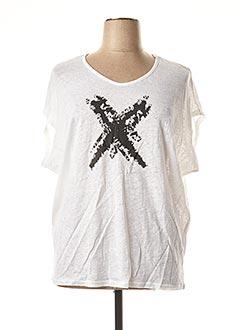 T-shirt manches courtes blanc MADO ET LES AUTRES pour femme