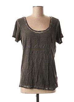 T-shirt manches courtes gris DDP pour femme