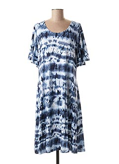 Robe mi-longue bleu CREAM pour femme