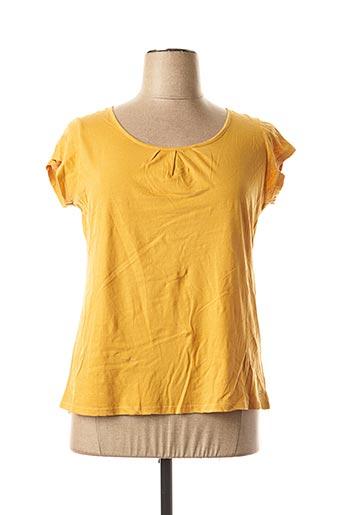 T-shirt manches courtes jaune DDP pour femme