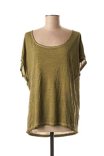 T-shirt manches courtes vert DDP pour femme