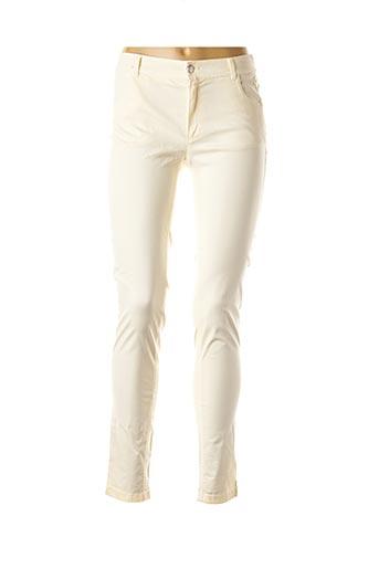 Pantalon casual beige AKELA KEY pour femme