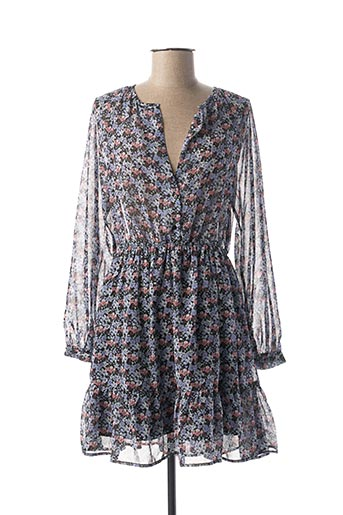 Robe courte bleu CLP pour femme