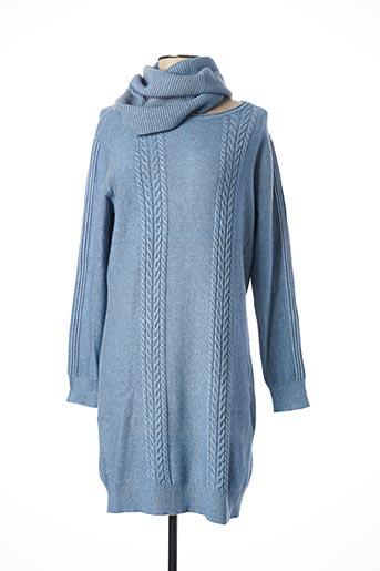 Robe pull bleu BLUOLTRE pour femme