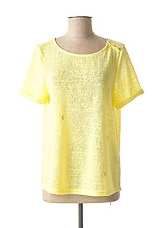 Pull col rond jaune GRACE & MILA pour femme