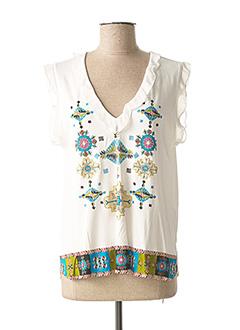 T-shirt manches courtes blanc DESIGUAL pour femme