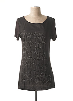 T-shirt manches courtes noir DESIGUAL pour femme