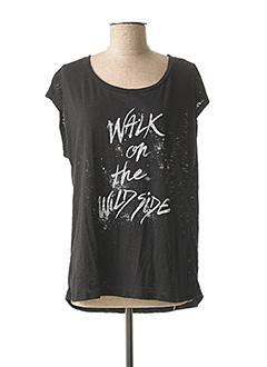 T-shirt manches courtes noir MKT STUDIO pour femme