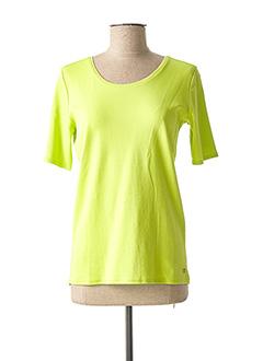 T-shirt manches courtes vert CECIL pour femme