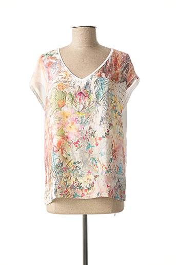 T-shirt manches courtes beige COLLIE pour femme