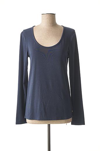 T-shirt manches longues bleu DESGASTE pour femme
