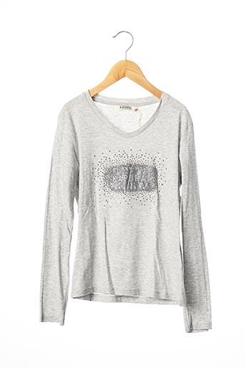 T-shirt manches longues gris KAPORAL pour fille