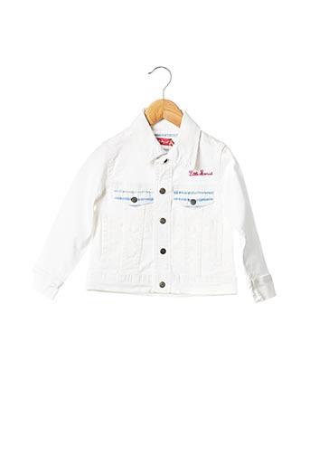 Veste en jean blanc LITTLE MARCEL pour fille