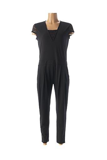 Combi-pantalon noir R.P TAMAR pour femme