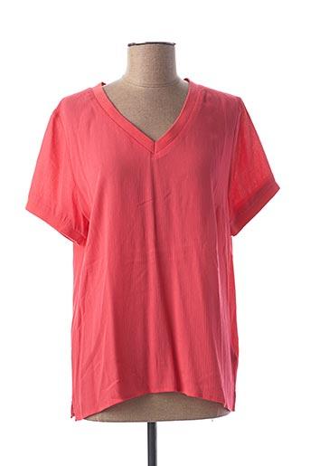 T-shirt manches courtes rose ESQUALO pour femme