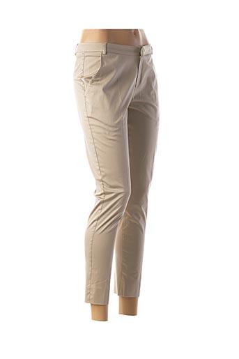 Pantalon 7/8 beige ET COMPAGNIE pour femme