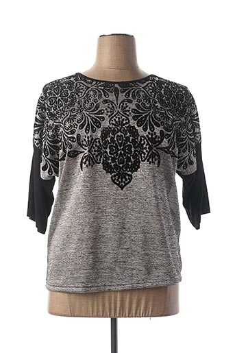Pull col rond gris BRANDTEX pour femme