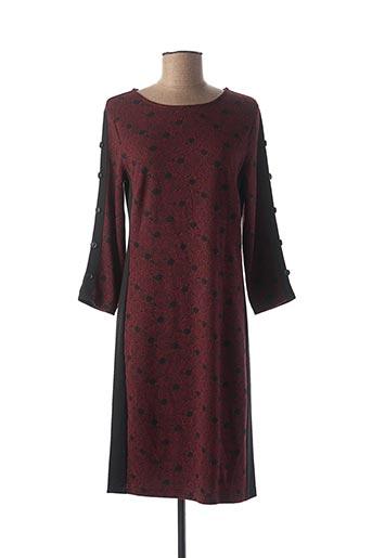 Robe mi-longue rouge BRANDTEX pour femme
