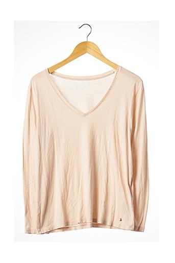 T-shirt manches longues rose DES PETITS HAUTS pour femme
