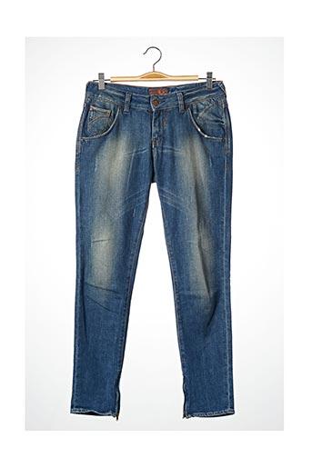Pantalon 7/8 bleu REIKO pour femme