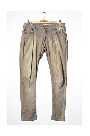 Pantalon 7/8 gris ACOTÉ pour femme