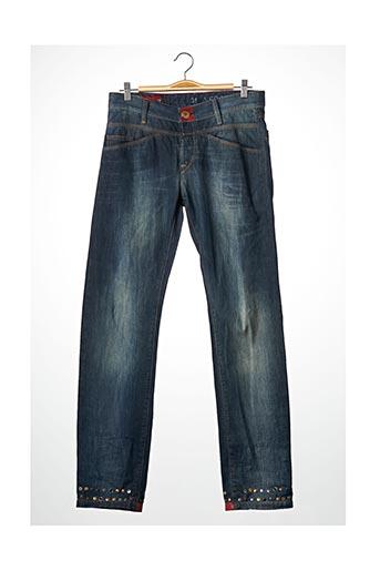 Pantalon casual bleu MARITHE & FRANCOIS GIRBAUD pour femme