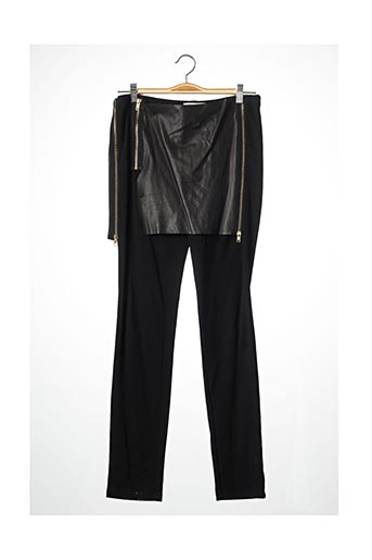 Pantalon casual noir ANNA PEPE pour femme