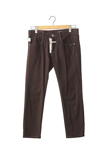 Jeans boyfriend marron MARITHE & FRANCOIS GIRBAUD pour femme