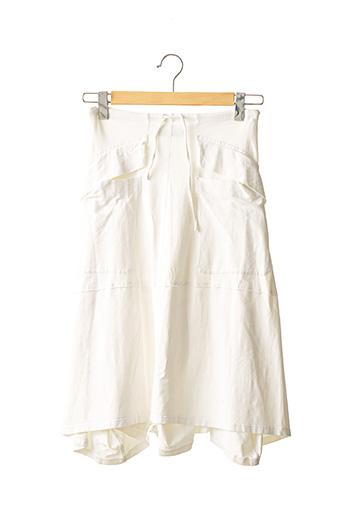 Jupe mi-longue beige MARITHE & FRANCOIS GIRBAUD pour femme