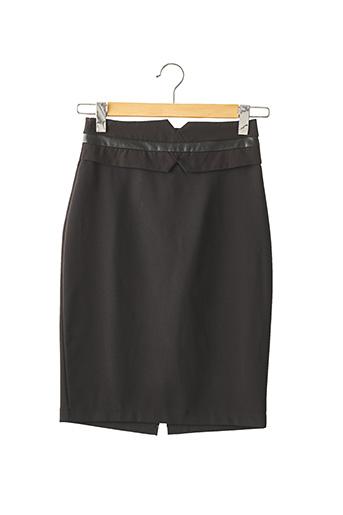 Jupe mi-longue noir CAPSULE pour femme