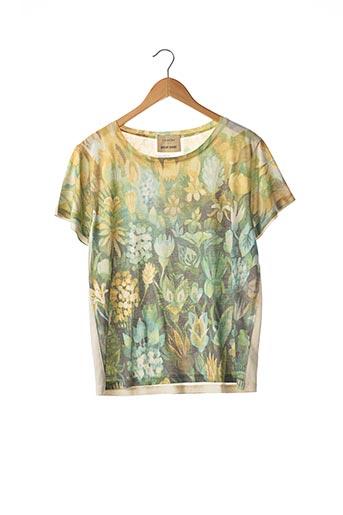 T-shirt manches courtes vert CÔTÉ LAC pour femme