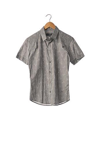 Chemise manches courtes gris BILLTORNADE pour homme