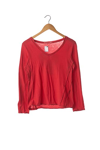 T-shirt manches longues rouge BERENICE pour femme