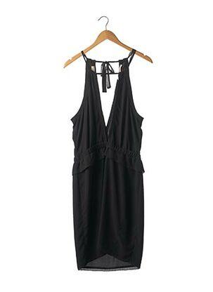 Robe mi-longue noir MAISON SCOTCH pour femme