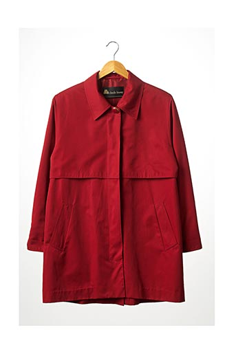 Imperméable/Trench rouge CLAUDE HAVREY pour femme