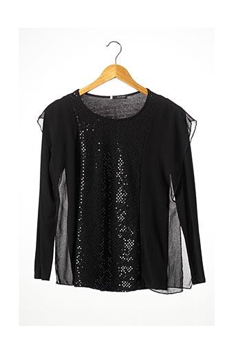T-shirt manches longues noir ESCORPION pour femme