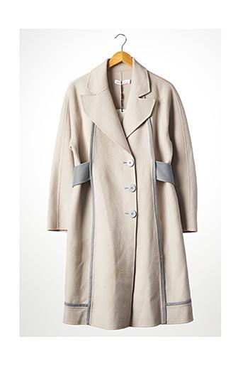 Manteau long beige BLANCORE pour femme