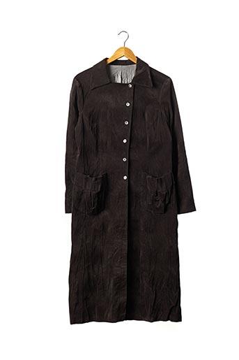Manteau long marron SANS MARQUE pour femme