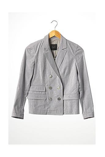 Veste en cuir gris LOLA pour femme