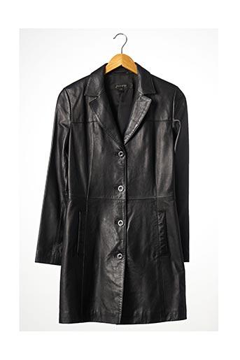 Veste en cuir noir JAMIE PAGE pour femme