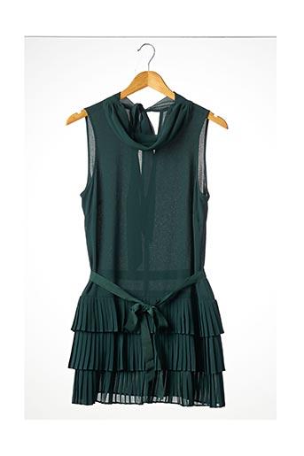 Robe courte vert DEBY DEBO pour femme