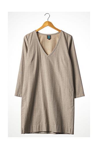 Robe mi-longue beige BENSIMON pour femme