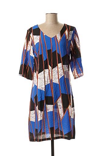 Robe mi-longue bleu FOR HER PARIS pour femme