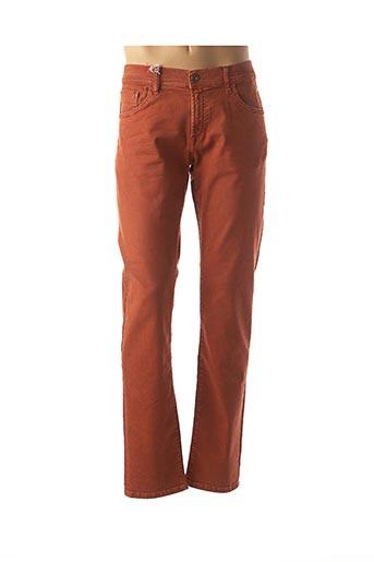 Jeans coupe slim orange LEE COOPER pour homme