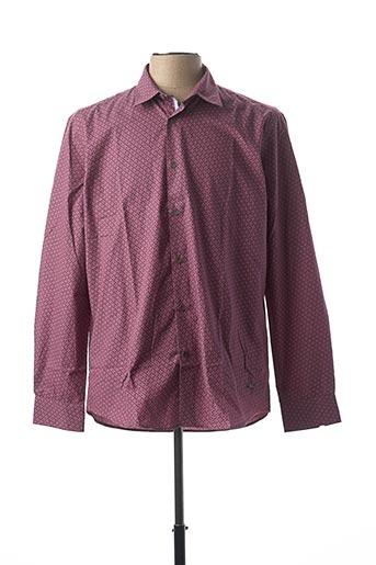 Chemise manches longues violet DELAHAYE pour homme