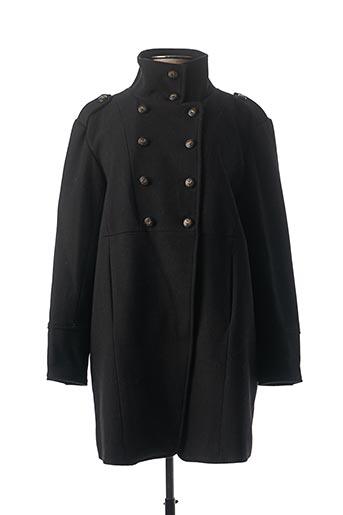 Manteau long noir THALASSA pour femme