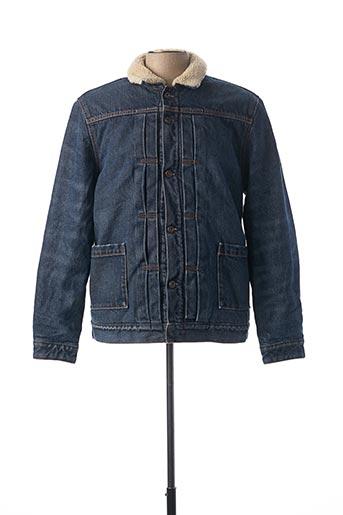 Manteau court bleu LEVIS pour homme