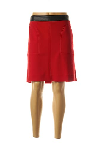 Jupe mi-longue rouge NATHALIE CHAIZE pour femme